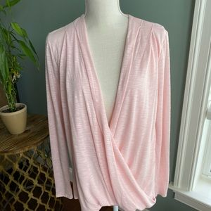 Peach oversized workout cardigan